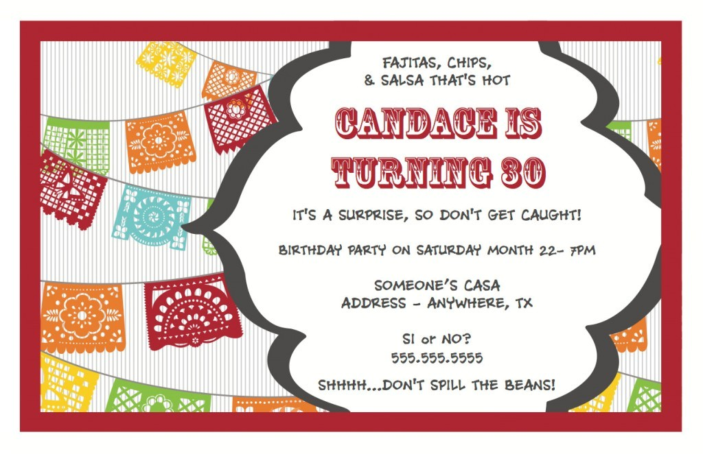 surprise birthday party invitations wording ideas