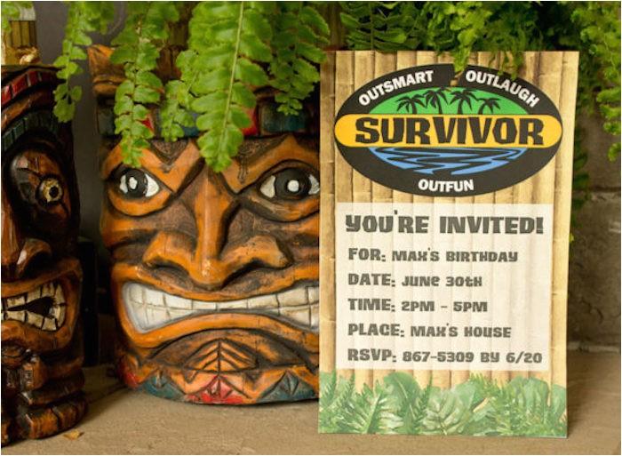survivor themed summer party