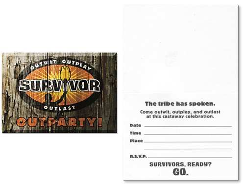 survivor party invitations