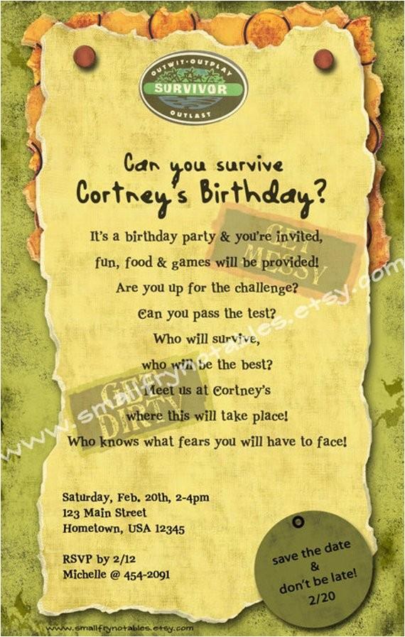 survivor personalized theme party