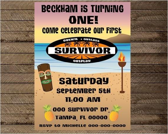 survivor theme first birthday party