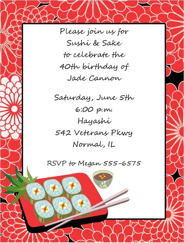 sushi invitations