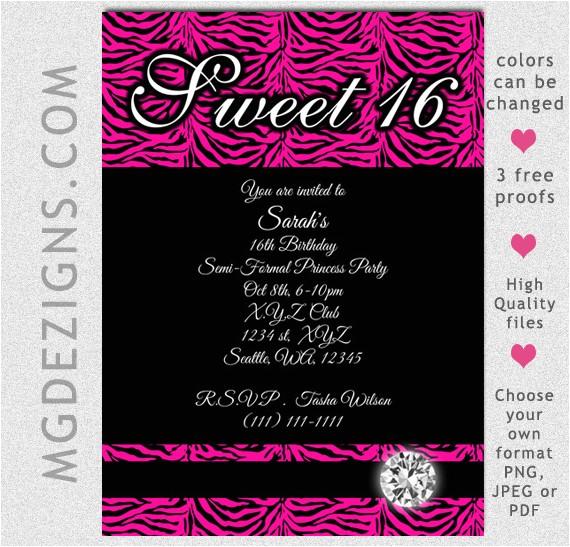 post free printable sweet 16 invitations 384106