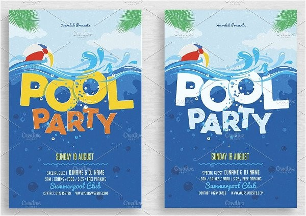 Swim Party Invites 28 Pool Party Invitations Free Psd Vector Ai Eps
