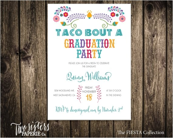 taco bout a graduation party invitation