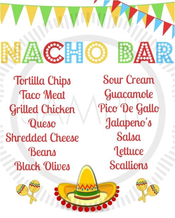 fiesta taco cinco de mayo taco bar nacho