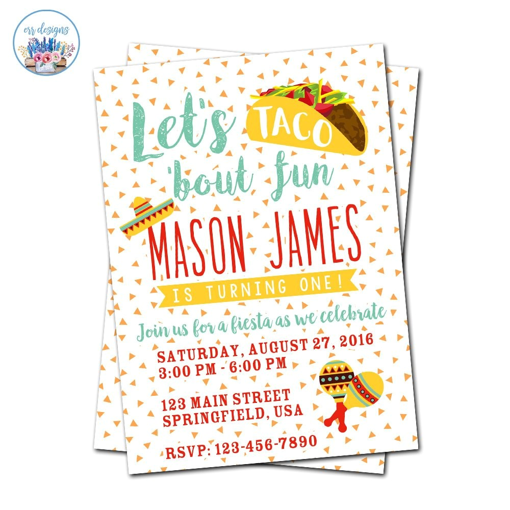 fiesta invitation taco party invitation