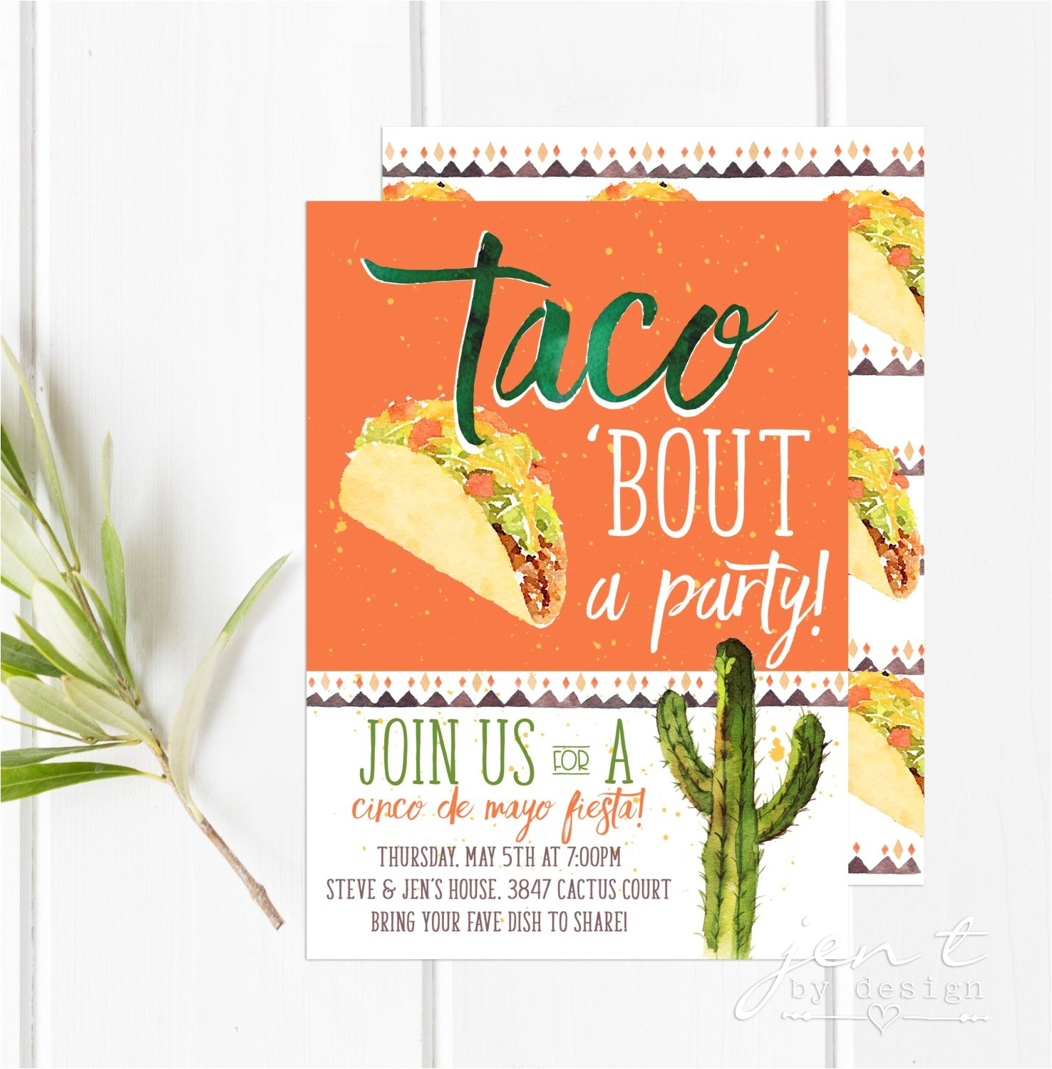 taco party fiesta invitations cinco de