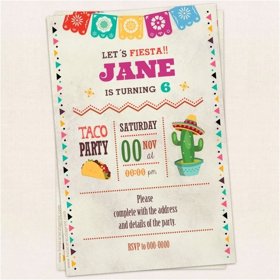 taco party invitation birthday