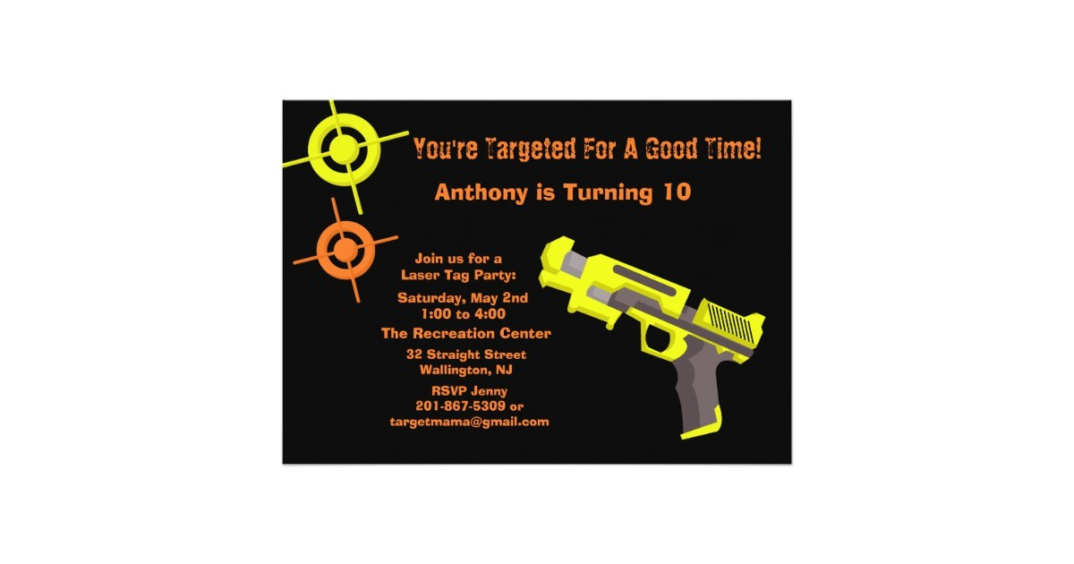 target laser tag birthday party invitation 161927635989579122