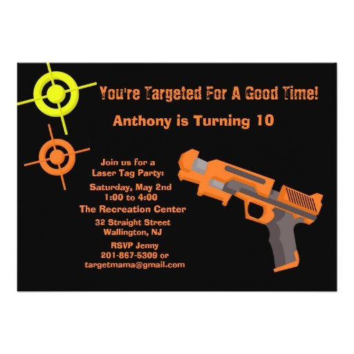 target laser tag birthday party invitation 161519859586394083