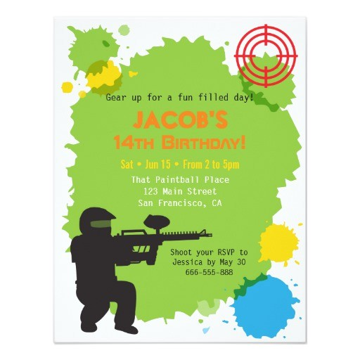 target locked paintball birthday party invitations 256758657552619624