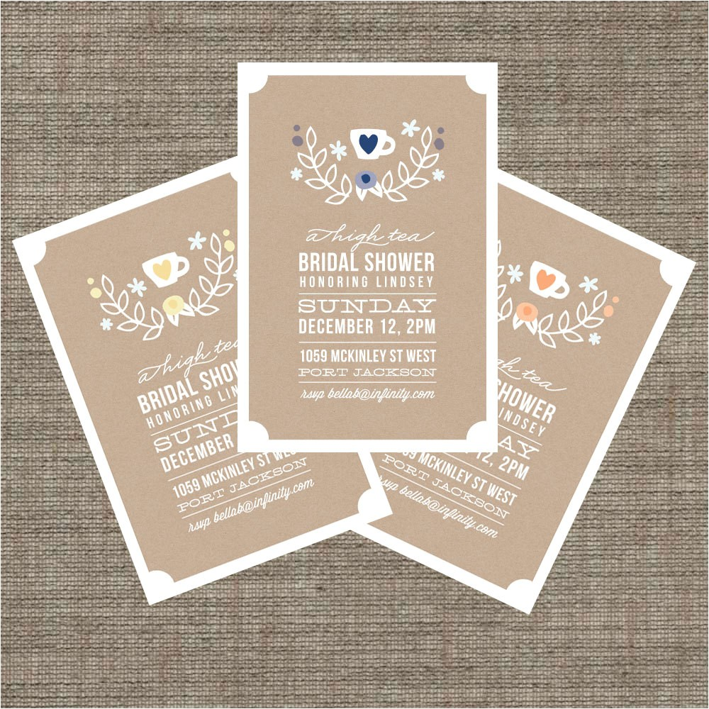 tea party baby shower invitation templates