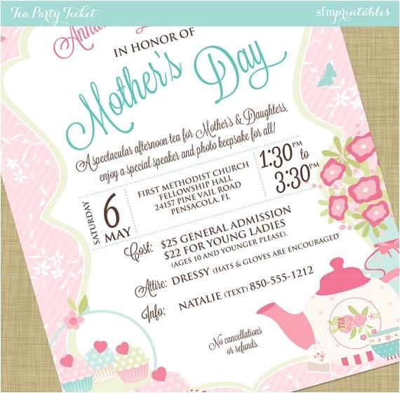 womens tea flyer invitation postcard