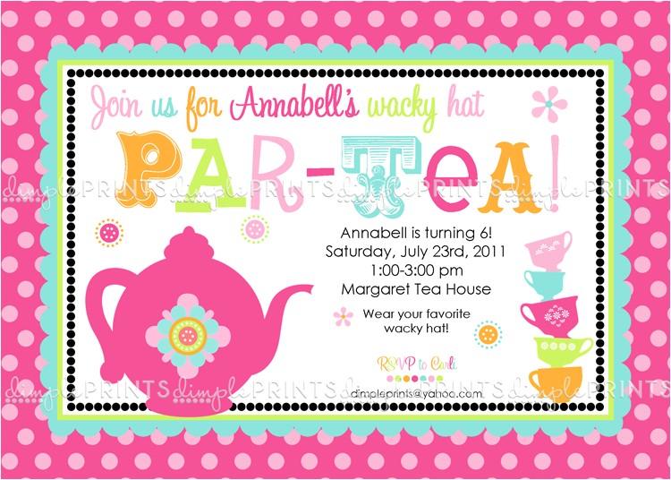 tea party invitation quotes