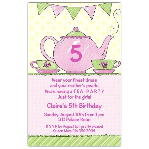 tea party invitations p 622 58 431ev