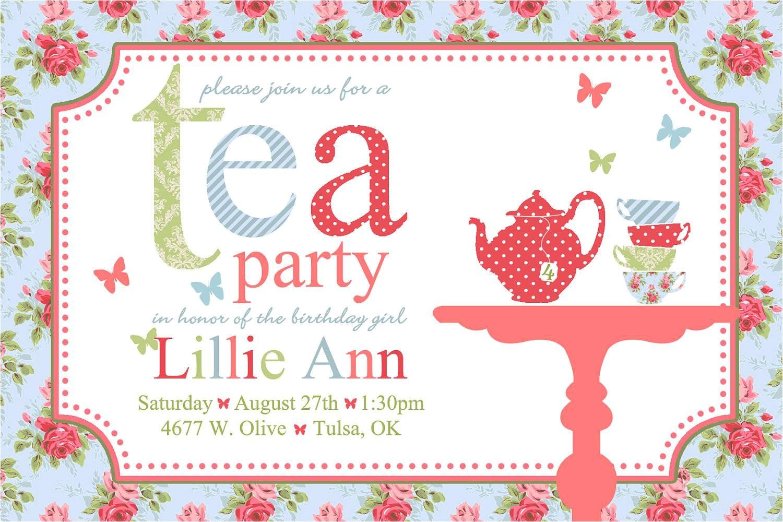 tea party invites