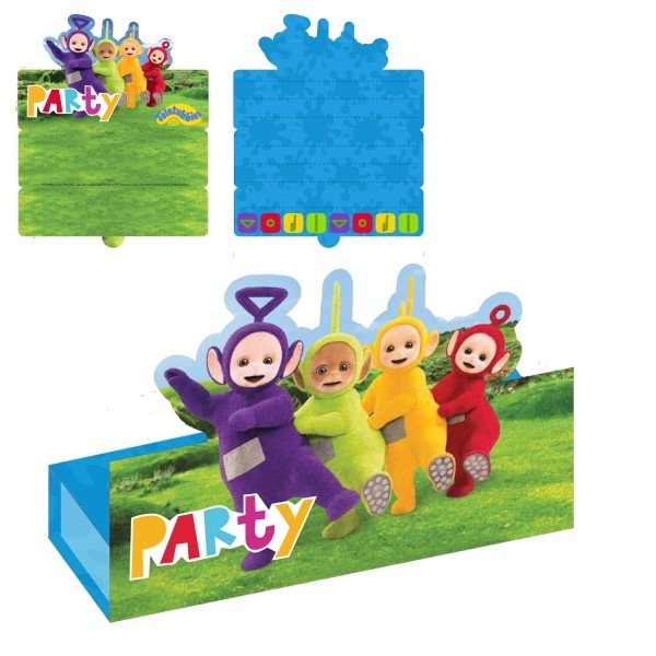 teletubbies party invitations