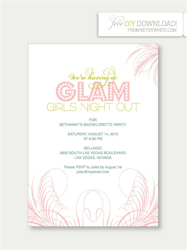 Template for Bachelorette Party Invitations Bachelorette Party Invites Template Best Template Collection