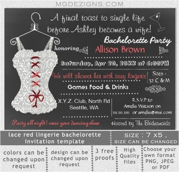 bachelorette party printable invitation