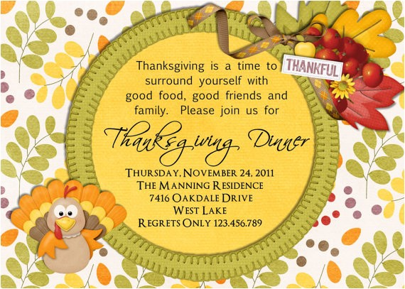 thanksgiving dinner invite wording