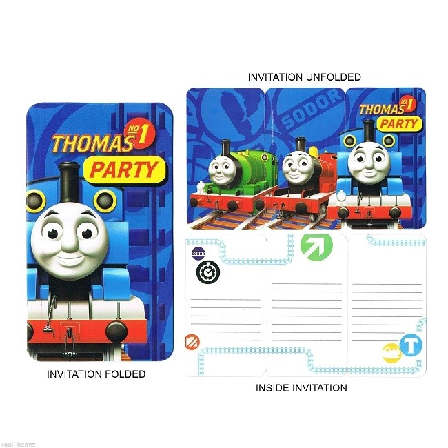 thomas friends birthday party invitations