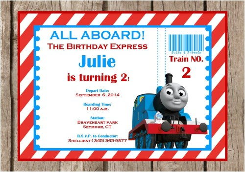 thomas and friends invitation printable thomas invitation