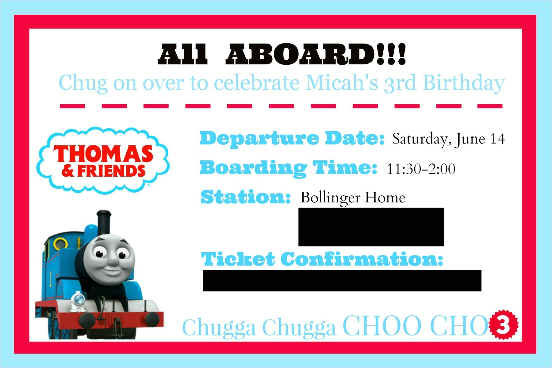 thomas and friends themed birthday party