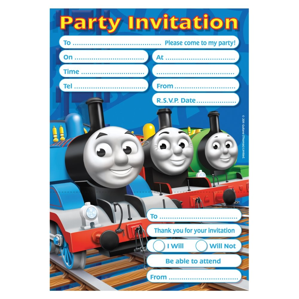 thomas friends party invitations p15695