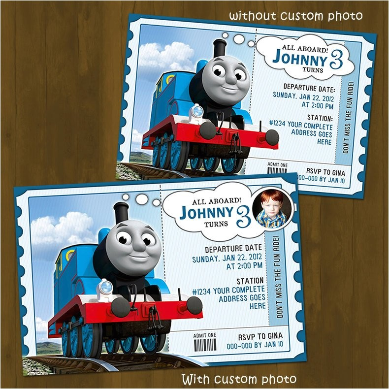 thomas train invitation thomas and