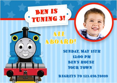 thomas the tank engine birthday invitations