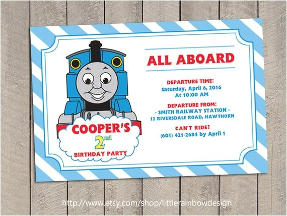 thomas train invitation thomas