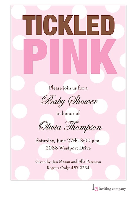 Tickled Pink Party Invitations Tickled Pink Invitation