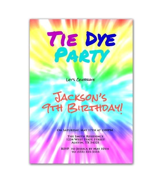 tie dye party art birthday party