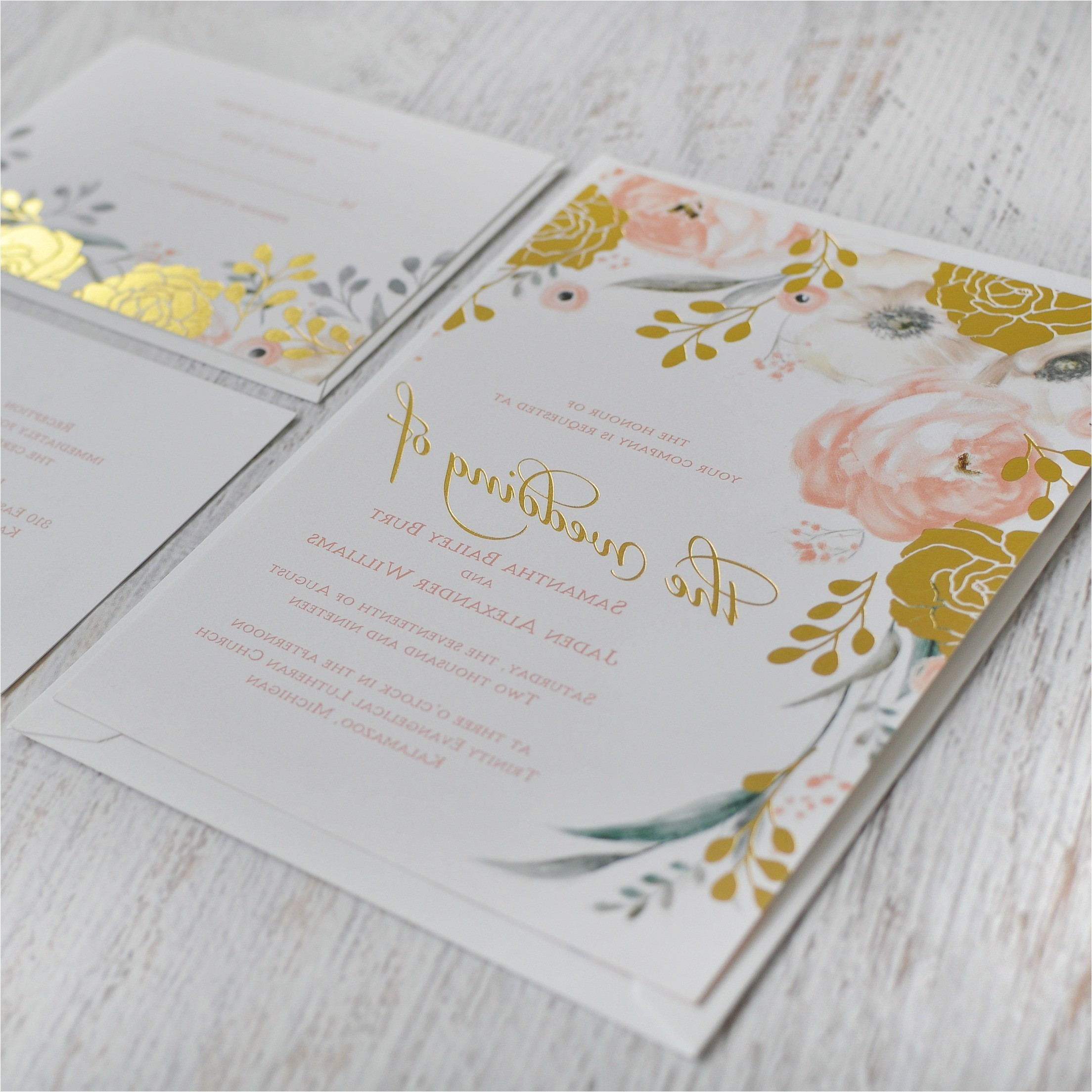 tiny prints wedding invites