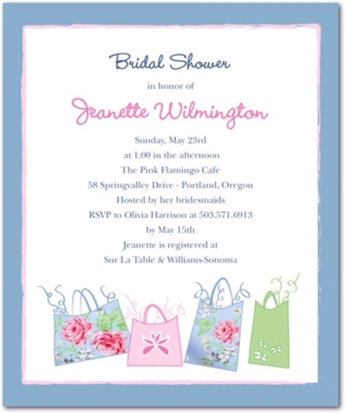 bridal shower invitations on sale