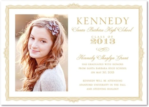 graduation announcements elegant diploma