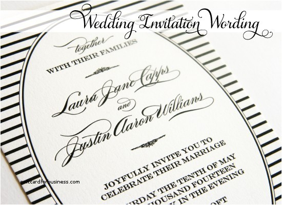 together with their families wedding invitation wording