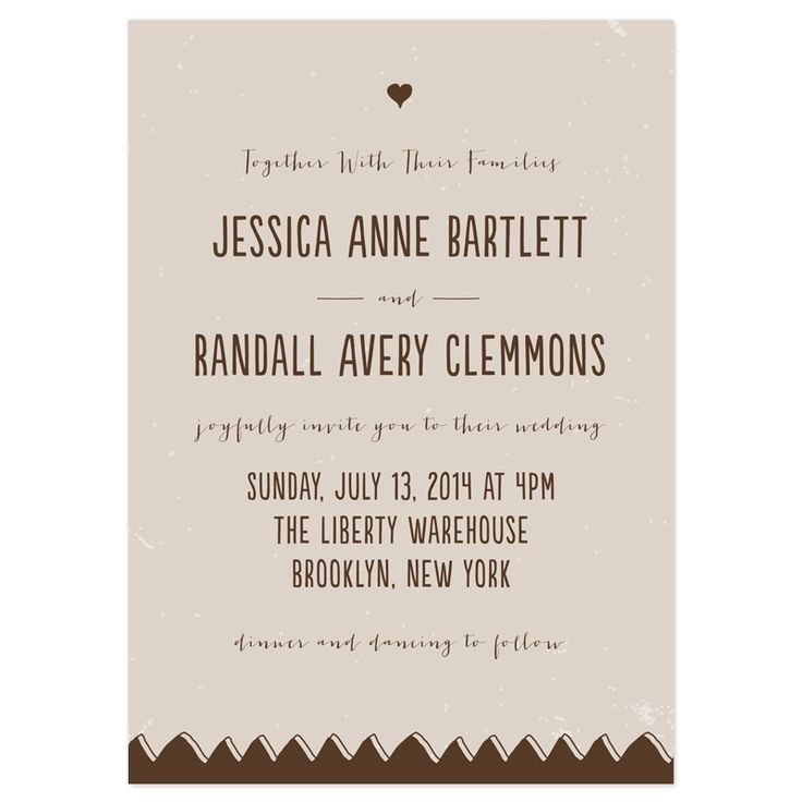 Together with their Families Wedding Invitations Wedding Invitation together with their Families