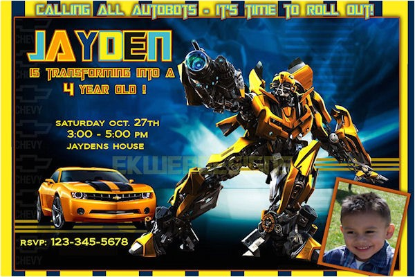 transformers birthday invitations