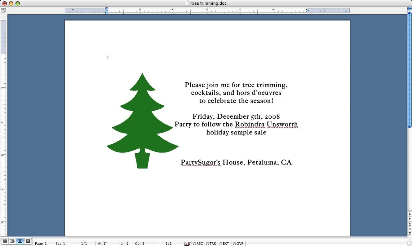 come party me tree trimming invite 2552719