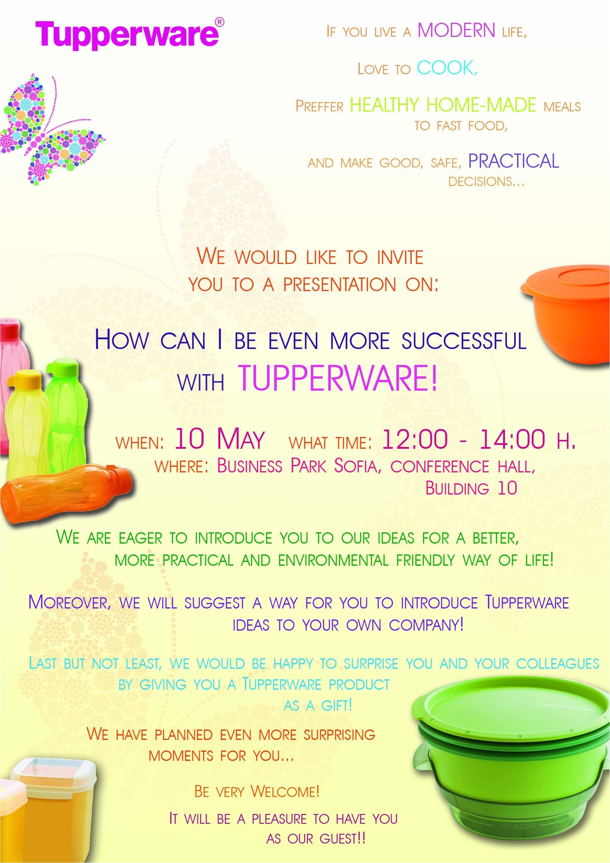 tupperware party invitation