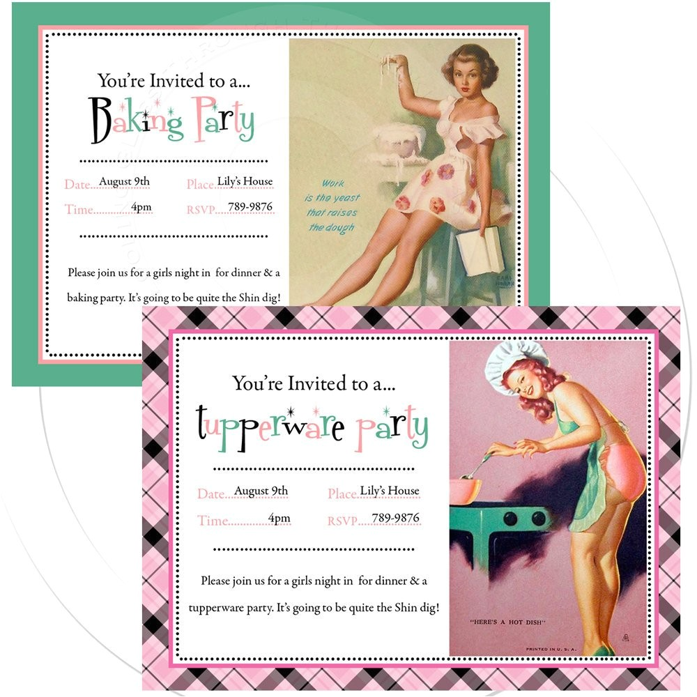 printable personalize pinup invitation
