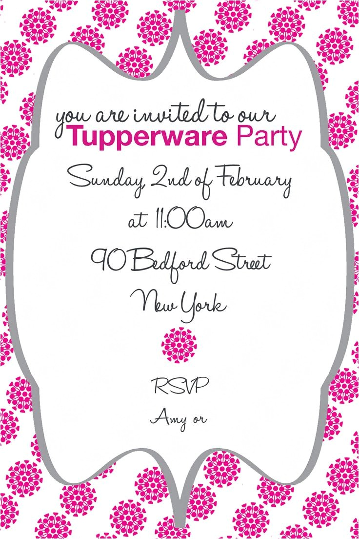 tupperware party invitations