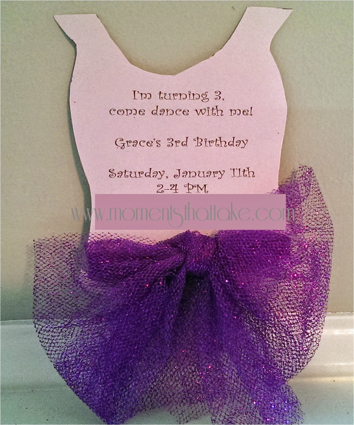ballerina tutu invitation free diy