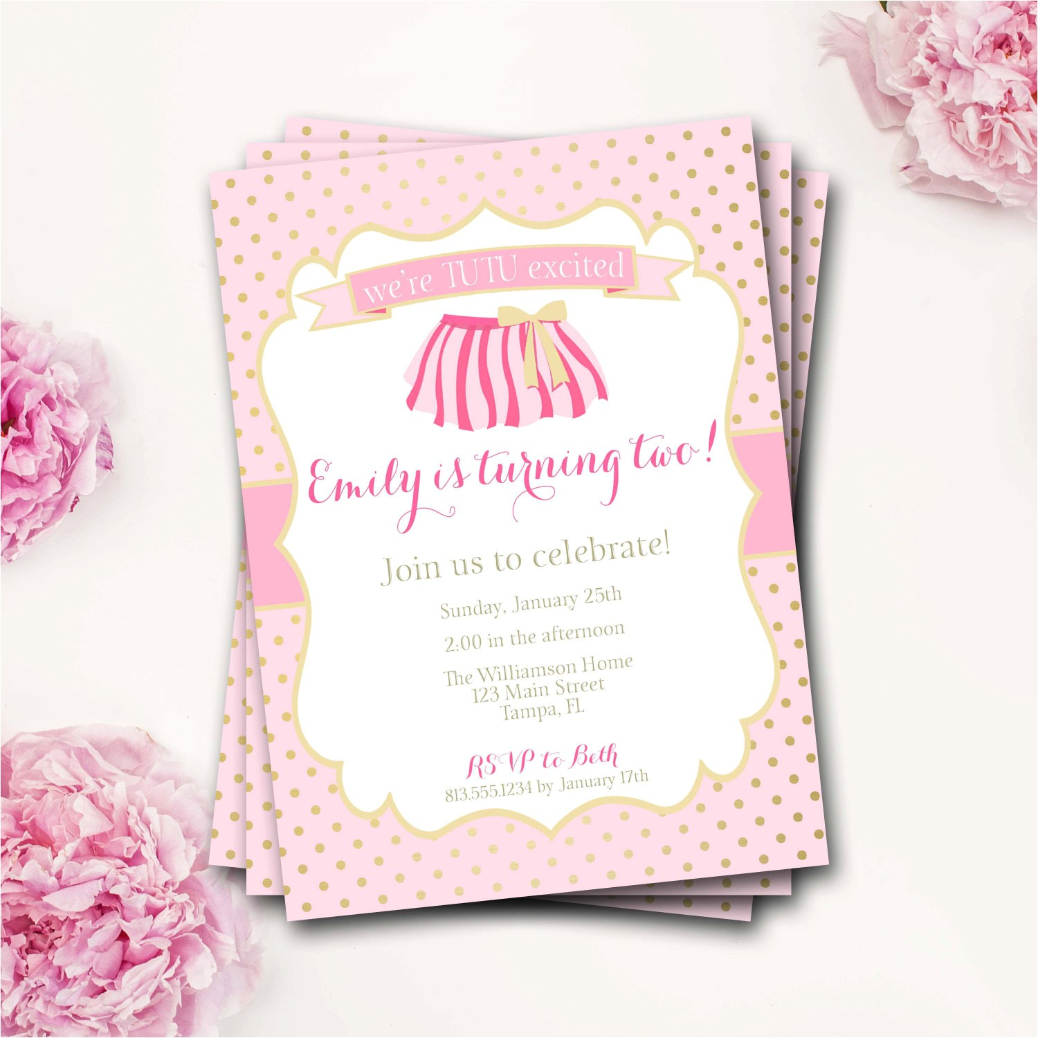 tutu birthday invitation tutu birthday invitation tutu invite pink and gold invite 2