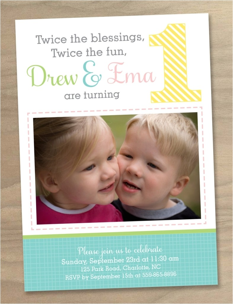 birthday invitations for twins twin first birthday invitations birthday card ideas
