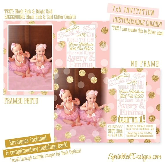 blush pink gold glitter first birthday
