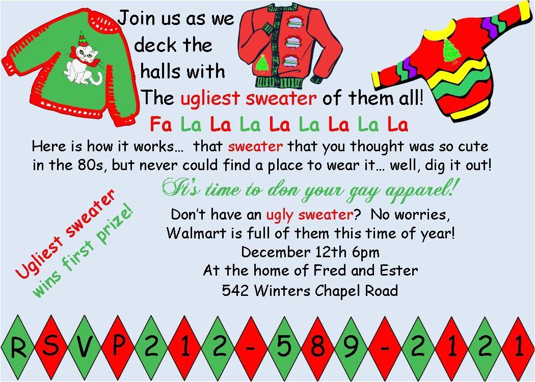funny christmas invite wording