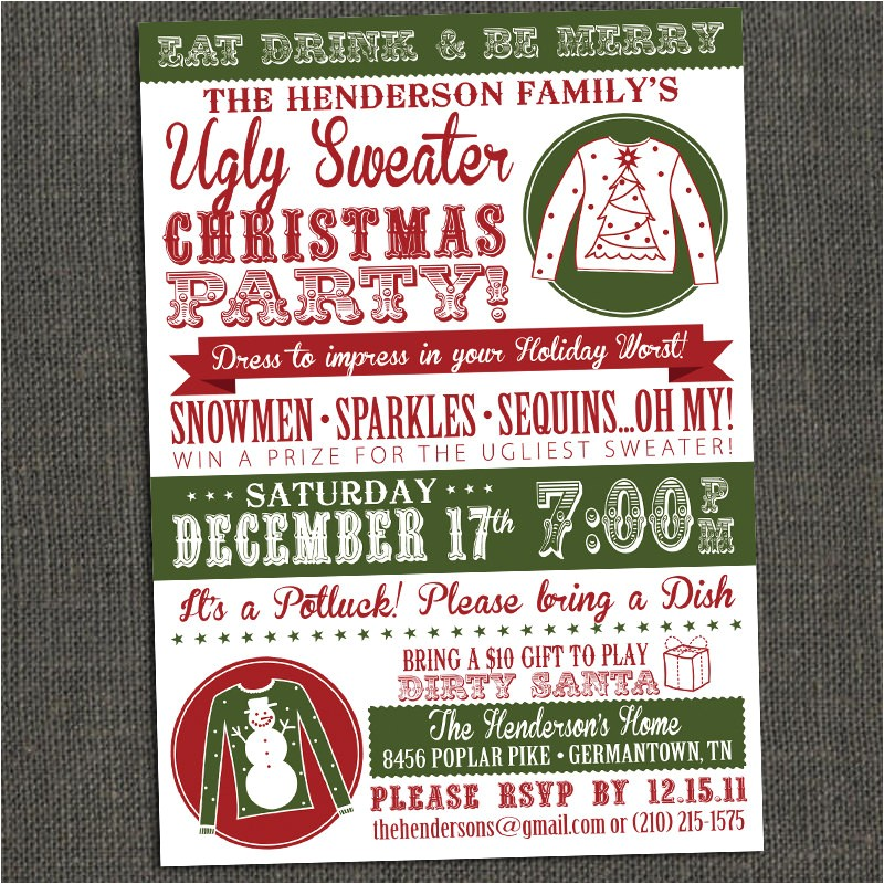 ugly christmas sweater contest flyer